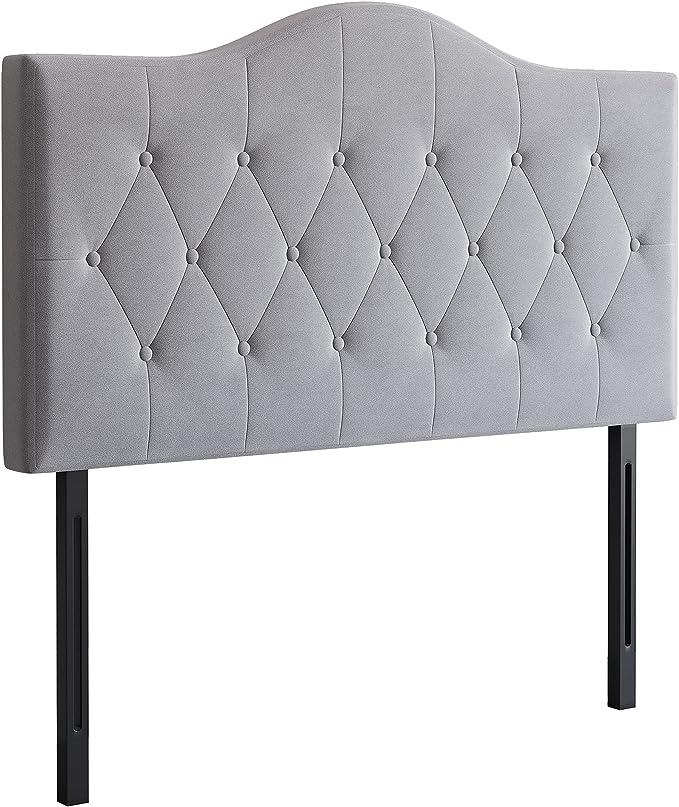 HOMCOM Headboard for Bed Upholstered in Grey Poplar Polyester 185 x 8 x 134 cm : Amazon.de: Home & Kitchen