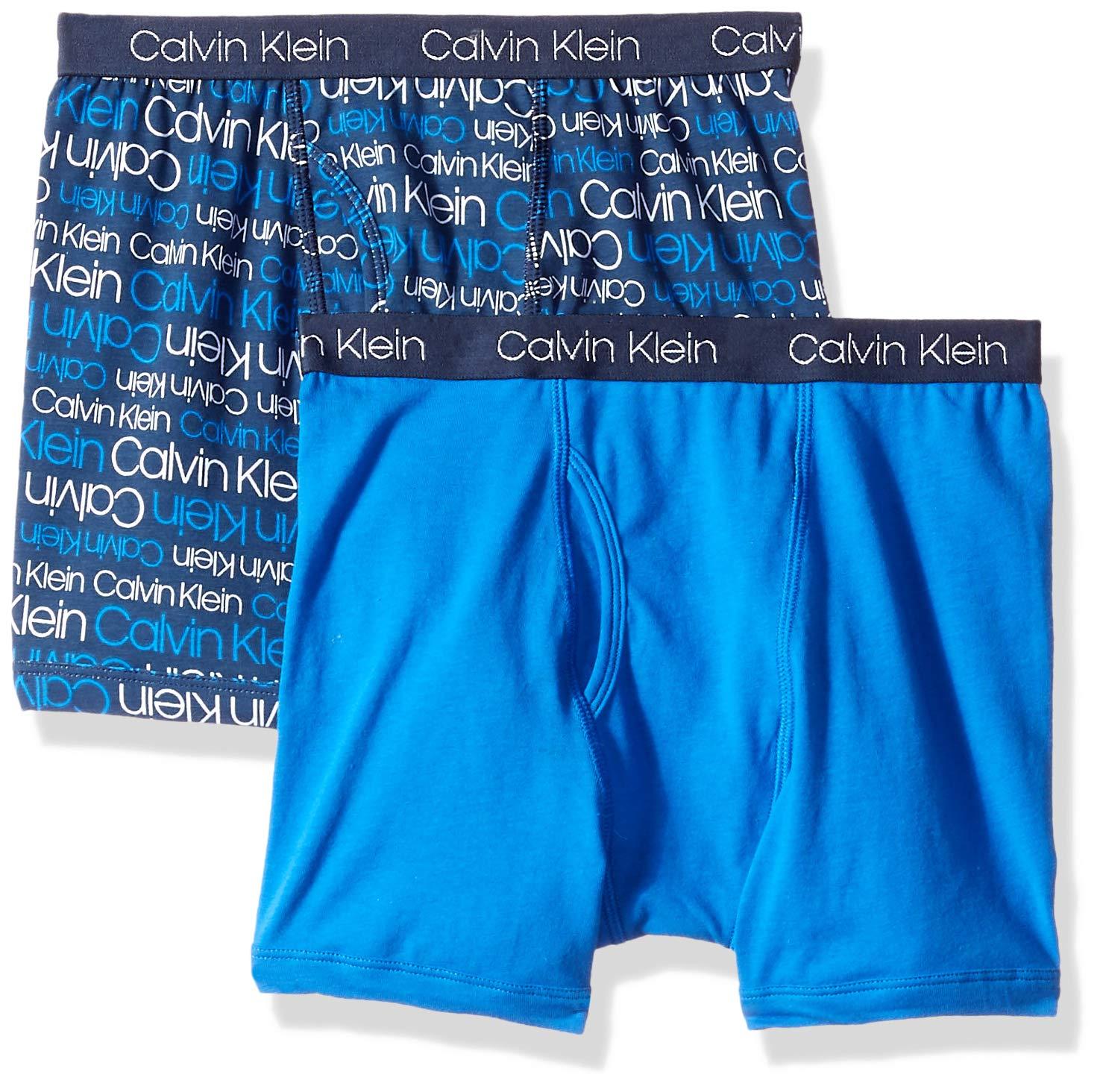 Calvin Klein 男童 2 件装棉平角内裤