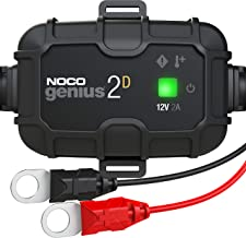 NOCO GENIUS2D, 2-Amp Direct-Mount Onboard Charger, 12V Battery Charger, Battery Maintainer, And Battery Desulfator With Te...