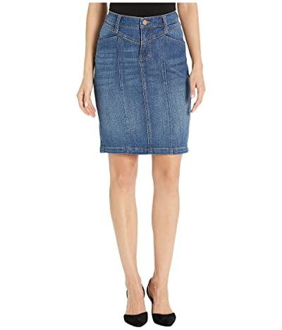 Liverpool Front Yoke Tapered Skirt in Vintage Denim in Holly (Holly) Women