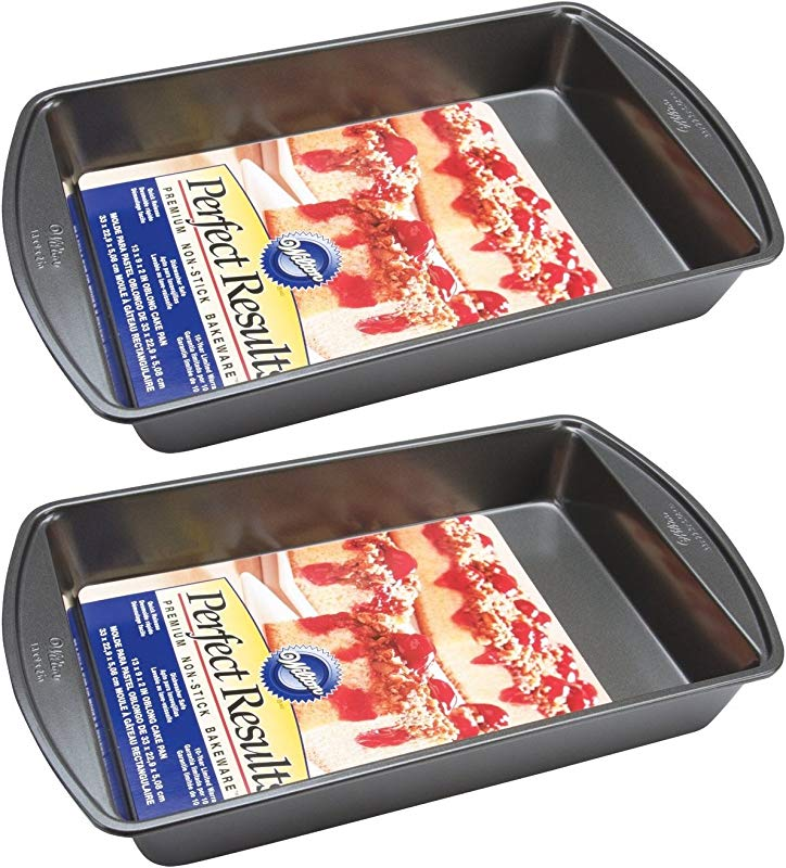 Wilton 2105 6060 Perfect Results Nonstick Oblong Cake Pan 13 By 9 By 2 Inch Pack Of 2 Pans