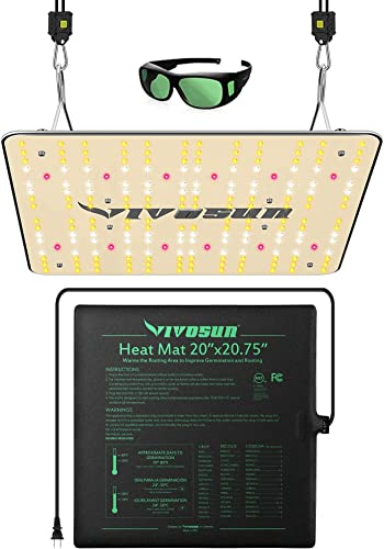 """new arrival VIVOSUN Durable Waterproof Seedling Heat Mat Warm Hydroponic Heating Pad 20"""" x 20"""" MET Standard, VIVOSUN Latest VS1000 LED Full Spectrum Grow Light with Samsung outlet sale LM301H outlet online sale Diodes outlet sale"""