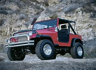 Rampage Products 768715 78-91 Jeep CJ & Wrangler Roll Bar Pad & Cover Kit, Denim Black