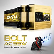OPT7 Bolt AC 55w 9007 Bi-Xenon HID Kit - 5x Brighter - 6x Longer Life - All Bulb Sizes and Colors - 2 Yr Warranty [6000K Lightning Blue Light]