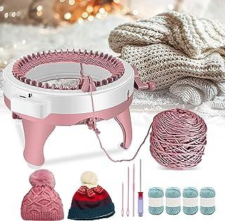 4YANG Machine à tricoter, 48 aiguilles, machine à tricoter à la main, machine à tisser, machine à tricoter ronde, planche ...