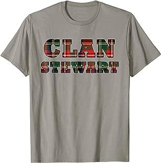 Stewart Clan Kilt Tartan T-Shirt Namesake Scotland gift Tee