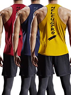 b04da3ed537dff Neleus Men s 3 Pack Dry Fit Y-Back Muscle Tank Top