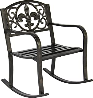 Amazoncom Wrought Iron Rocking Chairs Chairs Patio Lawn Garden