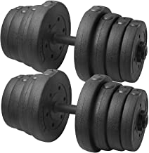 YAHEETECH 66 LB Weight Dumbbell Set Fitness Adjustable Cap Gym/Home Barbell Plates Body Workout for Women and Men Strength...