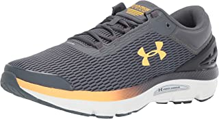 Under Armour Men's Charged Intake 3 Running Shoe,  Pitch Gray (103)/Onyx White, 10.5