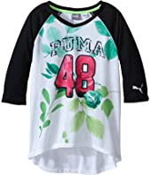 Puma Kids - PUMA® 48 Raglan V-Neck (Big Kids)