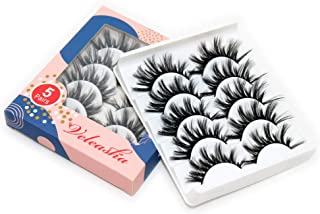 Veleasha 3D eyelashes Hand-made Dramatic Thick Crisscross Faux Mink Lashes for Makeup 5 Pair Pack (KOKO)