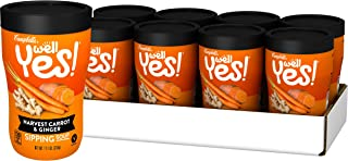 Campbell's Well Yes! Sipping Soup, Vegetable Soup On The Go, Harvest Carrot & Ginger, 11.1 oz. Cup (Pack of 8)
