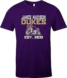 NCAA James Madison Dukes Est Stack Jersey Short Sleeve T-Shirt, Purple,Large