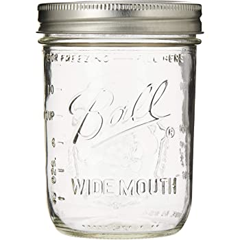 "Ball Mason ""PINT"" Jars Wide-Mouth Can or Freeze - 12pk (by Jarden Home Brands) WM 16 Oz"