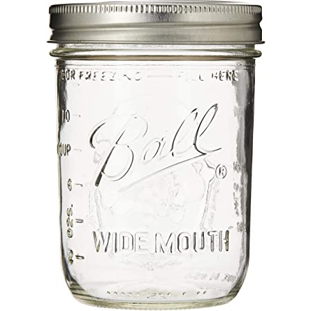 """Ball Mason """"PINT"""" Jars Wide-Mouth Can or Freeze - 12pk (by Jarden Home Brands) WM 16 Oz"""