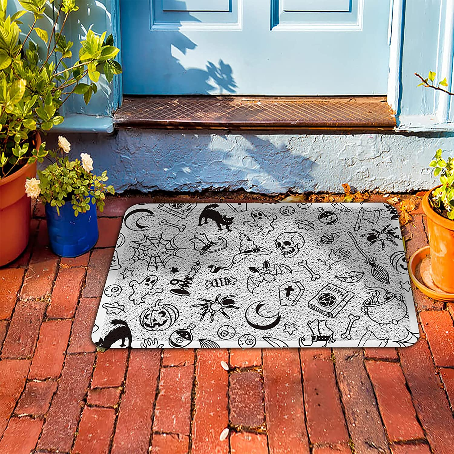 PVC Doormat Entrance store Rugs Heavy favorite Hallow Welcome Simple Mats Duty