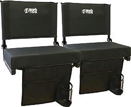 Brawntide Wide Stadium Seat Chair – Extra Thick Padding, 2 Bleacher Hooks, Compact,..