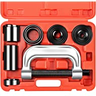OrionMotorTech Heavy Duty Ball Joint Press & U Joint Removal Tool Kit with 4x4 Adapters, for Most...