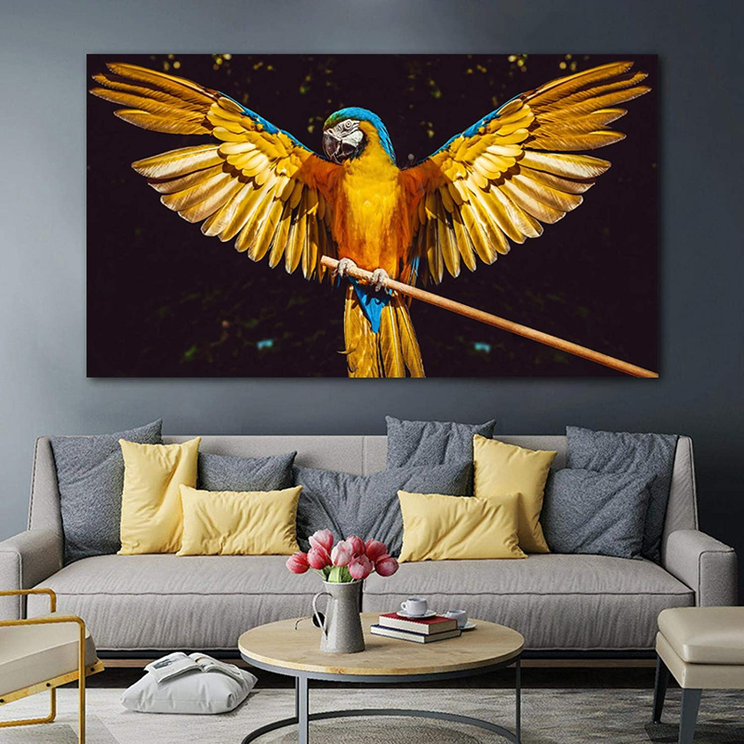 Sunsightly Print on Canvas Gold Parrot Posters Bird Direct stock discount P 25% OFF and Animal