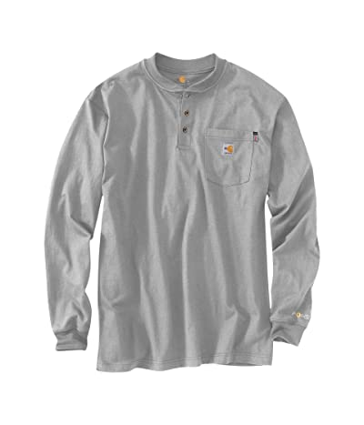 Carhartt Flame-Resistant Force(r) Cotton Long Sleeve Henley (Light Gray) Men