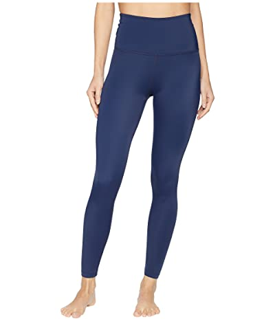 Beyond Yoga Compression High Waisted Midi Leggings (Outlaw Navy) Women