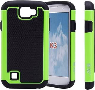 32nd Shockproof Defender Case Cover for LG K3 Cell Phone (2016) - Green