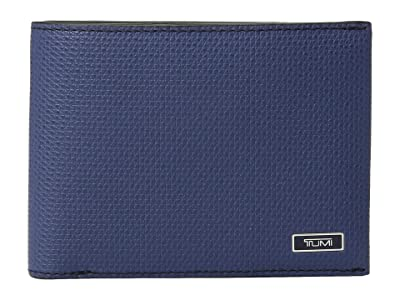 Tumi Monaco Double Billfold (Navy) Bill-fold Wallet