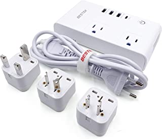 BESTEK International Power Converter - 220 V to 110 V Travel Adapter w/ 3 USB & 1 Type C Ports - 230W Adapter Plug for China British UK Europe European 150+ Countries - Type C USB Charging Adaptor