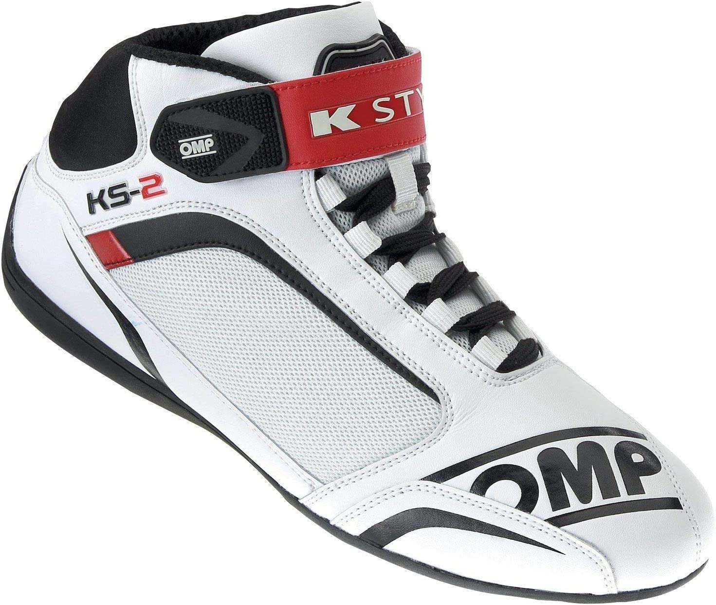 OMP KS-2 KART SHOES · 40 Indianapolis Mall EUR 6-7 WHITE US service RED BLACK