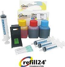 Kit de Recarga para Cartuchos de Tinta HP 302, 302 XL Color, Incluye Clip y Accesorios + 150 ML Tinta