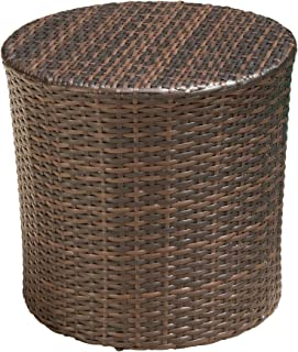 round wicker garden table and chairs