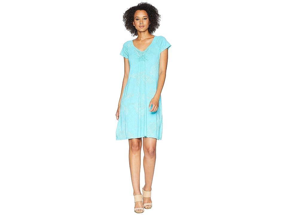Fresh Produce White Tides Emma Dress (Luna Turquoise) Women
