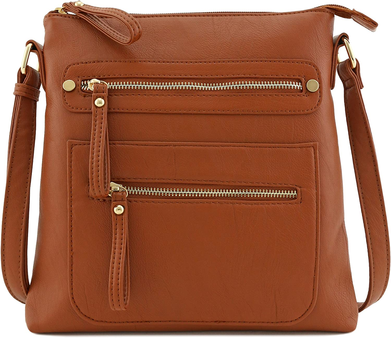 Lightweigt Soft Faux leather Large Crossbody Bag