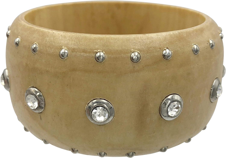 Gypsy Jewels Large Wood Statement Chunky Fun Funky Wide Boho Wooden Bangle Bracelet