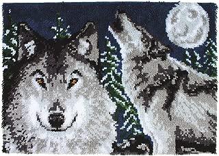 Wonderart Midnight Wolves Latch Hook Kit, 27