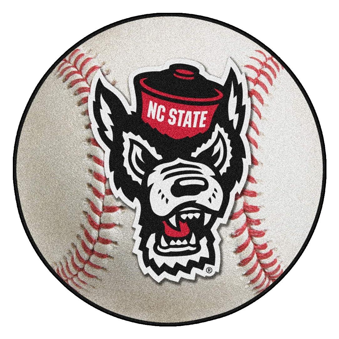 シルク麻酔薬ドアミラーFanmats NCAA North Carolina State Wolfpack universitybaseballマット、チームカラー、1サイズ