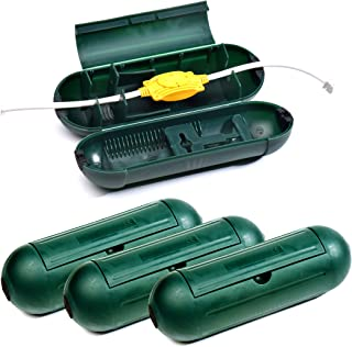 CalPalmy (4-Pack) Extension Cord Safety Cover Protectors - Green: Great Protection Against Rain & Snow