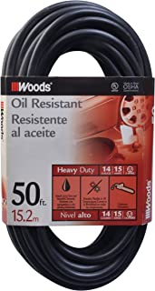 Woods 982452 50-Foot SJTOW Agricultural Outdoor Heavy Duty All- Weather Extension Cord, Oil Resistant Vinyl Jacket, Versat...