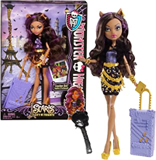 """Mattel Year 2012 Monster High """"Scaris City of Frights"""" Deluxe Series 11 Inch Doll Set - Clawdeen Wolf """"Daughter of The Werewolf"""" with Rolling Suitcase, Book, Hairbrush and Doll Stand"""