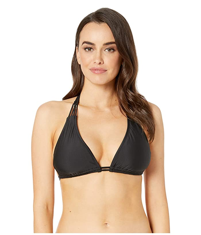Volcom Simply Solid Halter (Black) Women