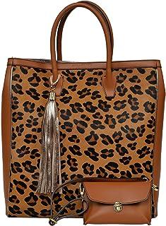 Carla Ferreri Cognac Handbag Set For Women