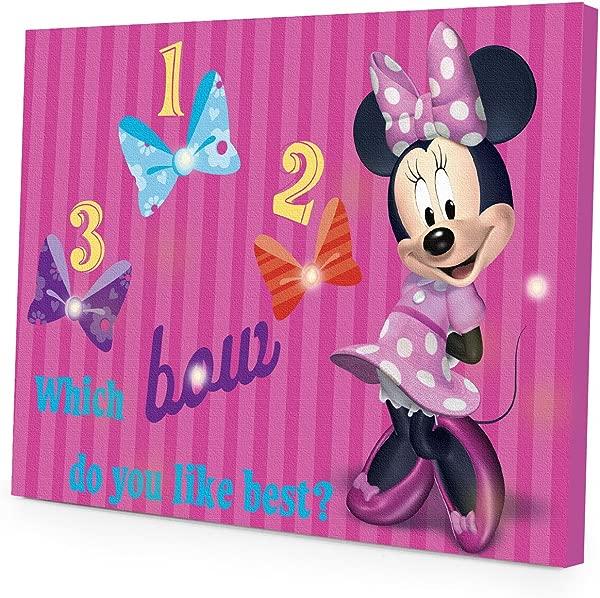 Disney Minnie Mouse LED Canvas Wall Art 15 75 Inch X 11 5 Inch
