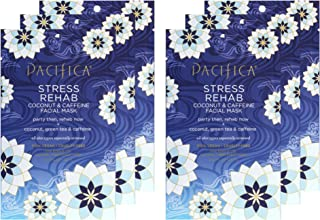 Pacififca Stress Rehab Coconut &Caffiene Facial Mask, 6 Count