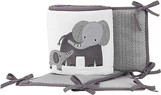 Lambs & Ivy Me & Mama Gray/White Safari Elephant 4-Piece Baby Crib Bumper