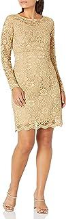 فستان Nanette Nanette Lepore من الدانتيل بدون كتف واسع للنساء مع جرس ذي طبقات SLV