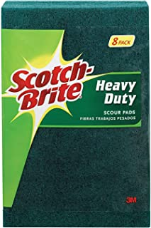 Heavy Duty Scour Pads, 8 Pads, 6 Pack