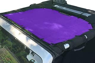 Alien Sunshade Jeep Sunshade Mesh Top Jeep Wrangler 2-Door JK 4-Door JKU 2007-2018 - 10 Year Warranty Front Jeep Top Royal Purple