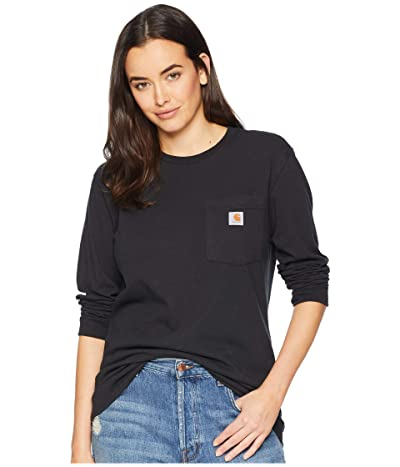 Carhartt WK126 Workwear Pocket Long Sleeve T-Shirt (Black) Women