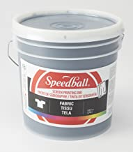 Speedball 046000 Fabric Screen Printing Ink, 128 Fl. oz, Black